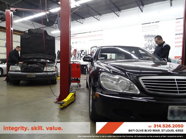 Mercedes benz repair by altox automotive services in st for Mercedes benz st louis service